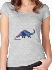 Dinosaur Brontosaurus 10K Women's Fitted Scoop T-Shirt