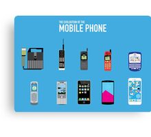 Evolution Of The Mobile Phone Canvas Print
