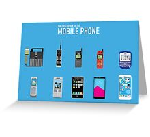Evolution Of The Mobile Phone Greeting Card