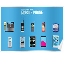 Evolution Of The Mobile Phone Poster