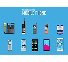 Evolution Of The Mobile Phone Photographic Print