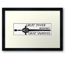 Once upon a time- great power Framed Print