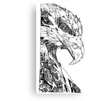 Patterned eagle Canvas Print