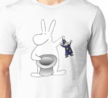 Rabbit and magician Unisex T-Shirt