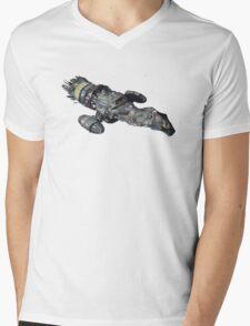 Firefly Serenity Space Ship Mens V-Neck T-Shirt
