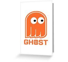 Ghost Bear Hockey Dude Greeting Card