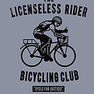 the Licensless Rider Bicycycling club by Jonah Block