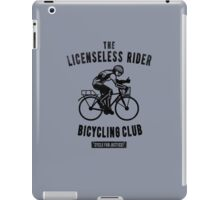 the Licensless Rider Bicycycling club iPad Case/Skin