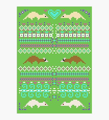 Pixel / 8-bit Ferret Pattern Photographic Print
