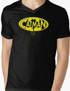 cat man Mens V-Neck T-Shirt