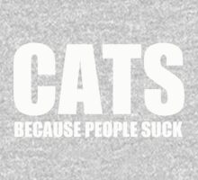 CATS BECAUSE PEOPLE SUCK Kids Tee