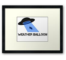 UFO or weather balloon? Framed Print