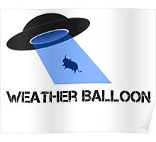 UFO or weather balloon? Poster