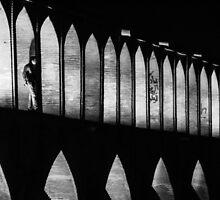 Iranian Stranger on a Bridge by pixog