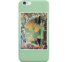 Vintage voyage around the world travel advertising iPhone Case/Skin