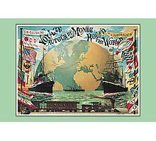 Vintage voyage around the world travel advertising Photographic Print