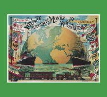 Vintage voyage around the world travel advertising Baby Tee
