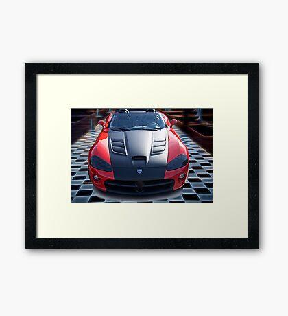 20XX Dodge Viper 'Winner Takes All' Framed Print