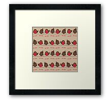 Red Robins Framed Print