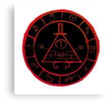 Bill Cipher Zodiac in Red Canvas Print
