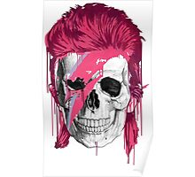 Bowie Skull Poster