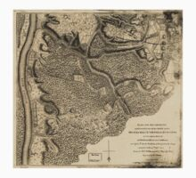 American Revolutionary War Era Maps 1750-1786 778 Plan of the encampment and position of the army under His Excelly Lt General Burgoyne at Swords House on One Piece - Short Sleeve