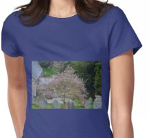 Soft Magnolia blooms compliment the Gravestones... Womens Fitted T-Shirt