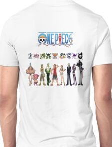 Straw Hats and Respectful Jolly Rogers Unisex T-Shirt