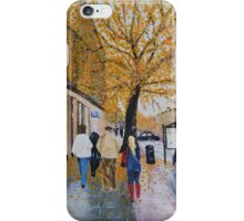 A Rainy Day in St. Andrews, Scotland iPhone Case/Skin