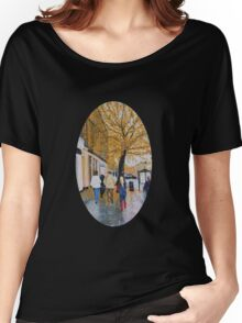 A Rainy Day in St. Andrews, Scotland Women's Relaxed Fit T-Shirt