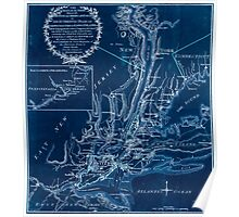 American Revolutionary War Era Maps 1750-1786 939 The seat of action between the British and American forces or An authentic plan of the western part of Long Inverted Poster