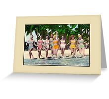 Fifties Water nympfs on a tropical beach in Florida Greeting Card