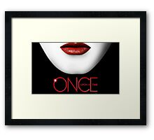 Once upon a time- Evil queen 2 Framed Print