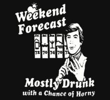 Forecast Mostly Drunk alcohol One Piece - Short Sleeve