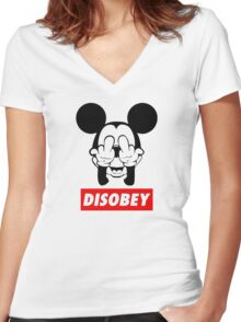 FREAK disobey Women's Fitted V-Neck T-Shirt