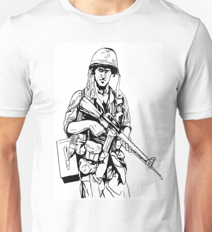 Vietnam Soldier Graphic Unisex T-Shirt