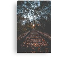 Autumn Train Tracks Canvas Print