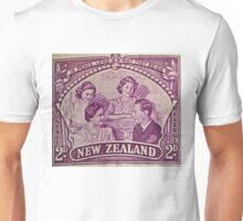 """""""1948 British Royal Family New Zealand Stamp"""" Unisex T-Shirt"""