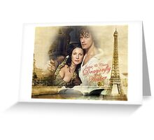 Outlander/Jamie & Claire Fraser/Dragonfly in Amber Greeting Card