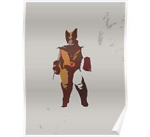 Wolverine Brown & Tan Poster