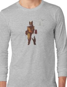 Wolverine Brown & Tan Long Sleeve T-Shirt