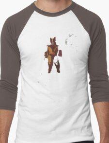 Wolverine Brown & Tan Men's Baseball ¾ T-Shirt