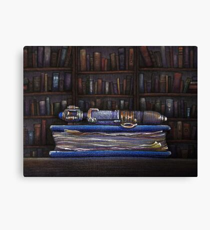 Doctor Who Silence Library Screwdriver Canvas Print