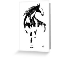 traditional brush stroke horse Greeting Card