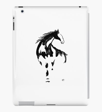 traditional brush stroke horse iPad Case/Skin