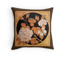 Beautiful autumn flowers and leaves, Victorian art by Thomas Crane Throw Pillow