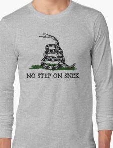 No Step on Snek Graphic Long Sleeve T-Shirt