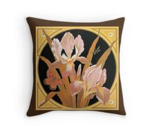 Beautiful spring flowers and leaves, Victorian art by Thomas Crane Throw Pillow