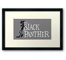 The Black Panther/Pink Panther Cross-over Framed Print