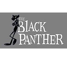 The Black Panther/Pink Panther Cross-over Photographic Print